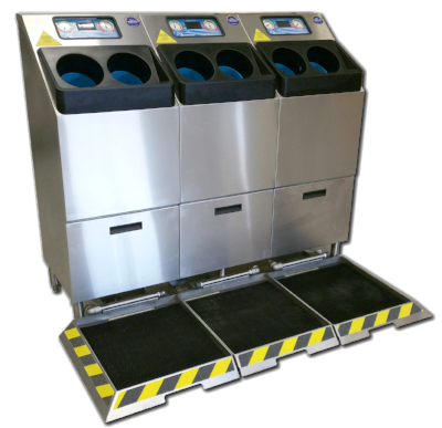 CleanTech 4000SB Automatic Hand Washing Station with Boot Sanitizer