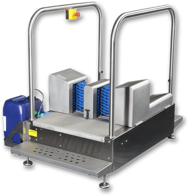 MBW 9000 Compact Boot Scrubber Station