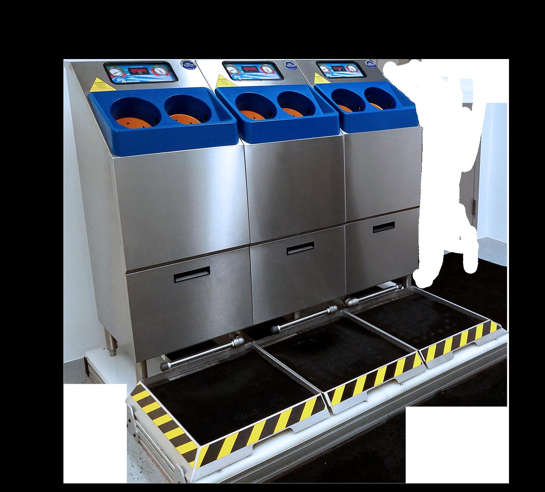 Semi-transparent 4000S Handwashing Station with Wetted Boot Dip Footwear Sanitizing Pan