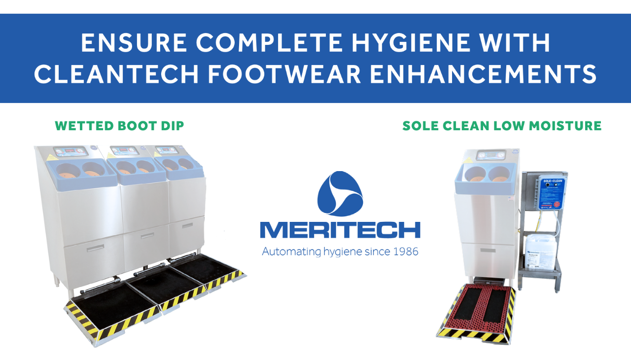 What are the types of CleanTech® Footwear Enhancements for Work Boot and Shoe Sanitation?