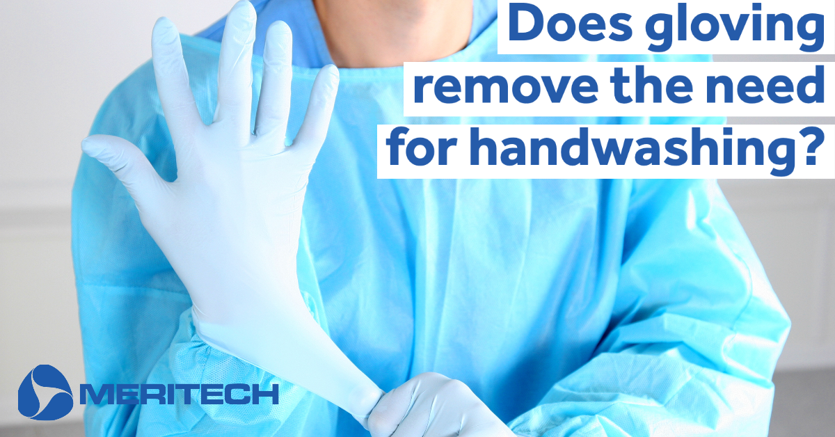 Does gloving remove the need for handwashing?
