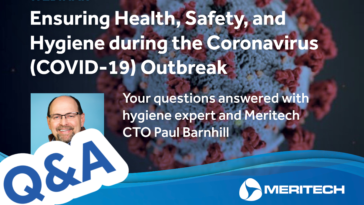 Meritech Provides Resource Center & Webinar to Reinforce Hygiene Best Practices in Response to COVID-19