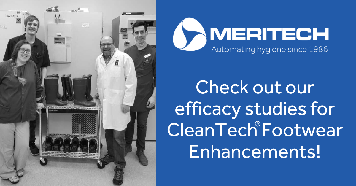 Improvements in the disinfection of CleanTech® footwear against Salmonella and Listeria