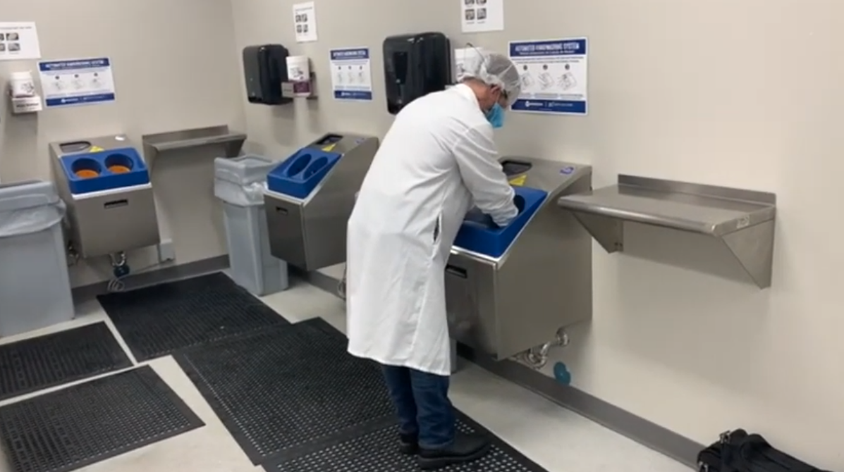 Hygiene Zone Walkthrough with Automated Hygiene Equipment