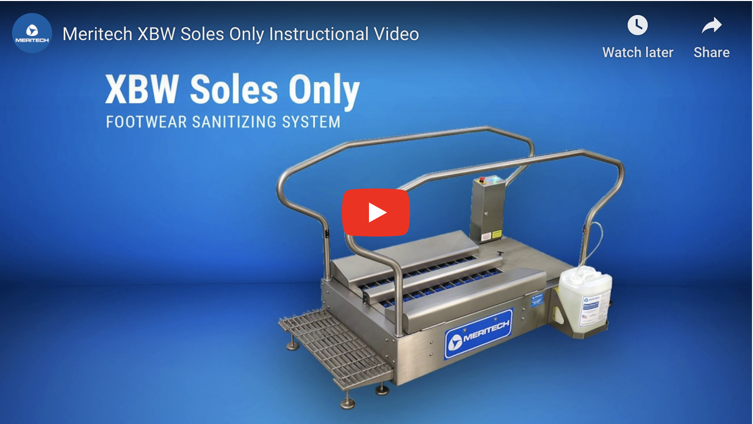 XBW Soles Only High-Volume Industrial Boot Scrubber
