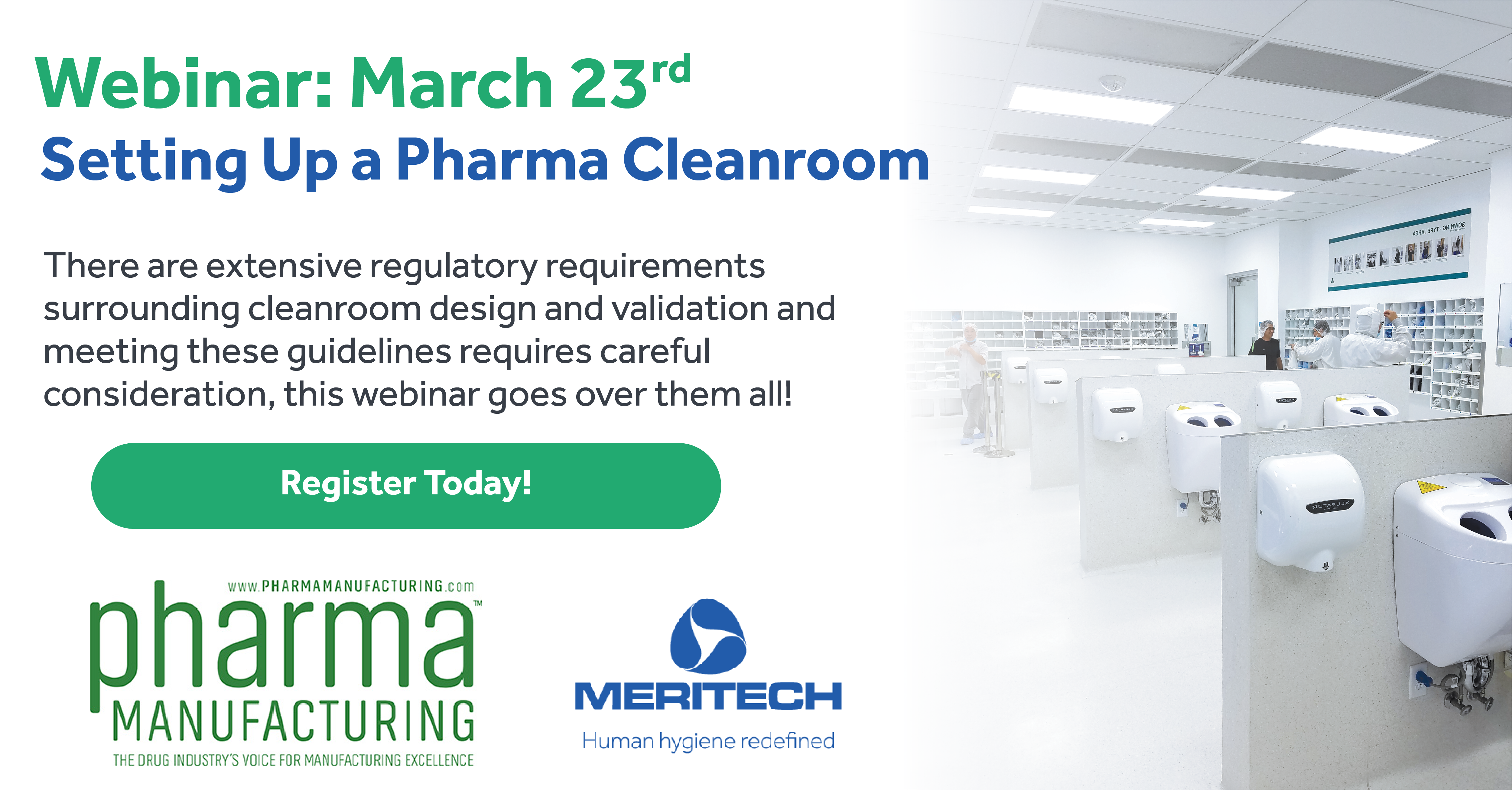 "Meritech to Sponsor Upcoming Webinar ""Setting Up a Pharma Cleanroom"""