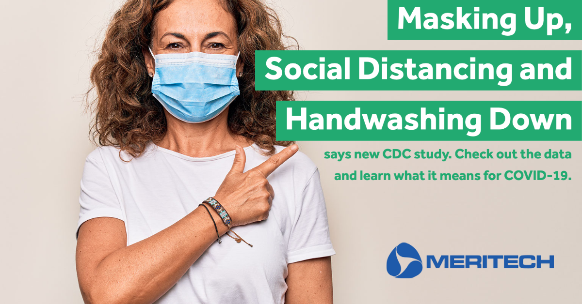 CDC Guideline Study Shows Masking Up, Handwashing & Social Distancing Down